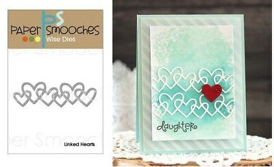 Paper Smooches Wise Dies - Linked Hearts, Love Heart