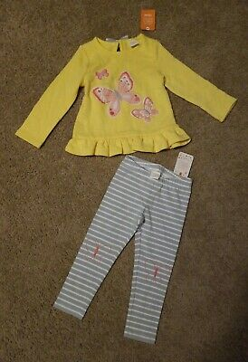 Gymboree Wild Flower Weekend Shirt Leggings Lot Outfit Spring Summer 2 2T NWT