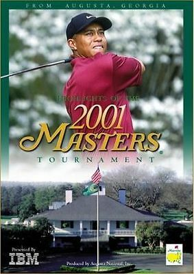 HIGHLIGHTS 2001 MASTERS TOURNAMENT New DVD Tiger Woods
