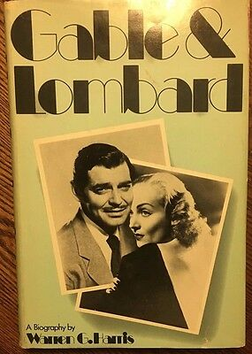 GABLE & LOMBARD a Biography by Warren G Harris (1974) S&S illustrated HC