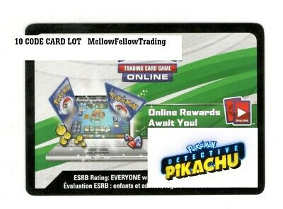 10 Detective Pikachu Code Card Lot New Unused BOOSTER PACK 4 Cards Per 40 total