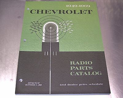 1969 DELCO RADIO PARTS CATALOG Camaro Chevelle Chevy II Corvette