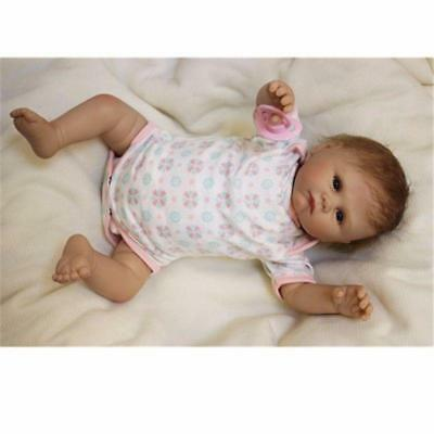 Silicone Vinyl 20'' Reborn Baby Girl Doll Lifelike Soft Newborn Bebe toys gifts