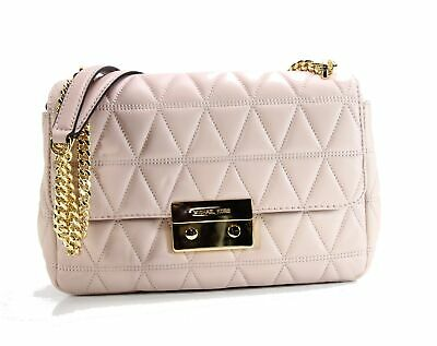 4d0978cdfdb4 Michael Kors NEW Soft Pink Quilted Sloan Chain Shoulder Bag Purse  328-  034