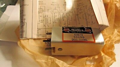 MILLER Radio Coils  6192-TV Sound Disc.Trans. new old stock FREE SHIPPING