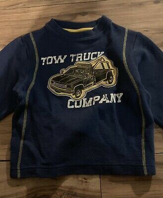 Boys GYMBOREE Mr Tow Truck t shirt NWT Little Brother 3-6-12-18 orange gray