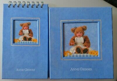 ANNE GEDDES x2 TEDDY BABY - NOTE PAPER BLOCK + NOTE BOOK Pocket Size - NEW LOOK!
