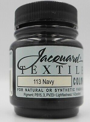 Jacquard Navy  Natural Or Synthetic Fabric Paint