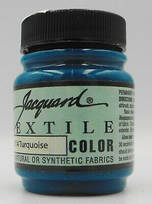 Jacquard Turquoise ' Natural Or Synthetic Fabric Paint