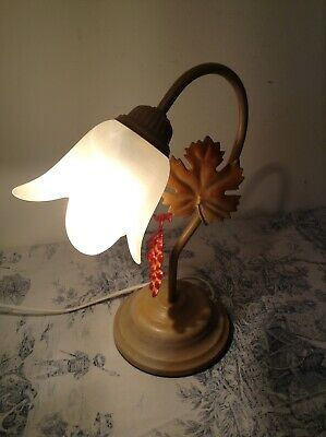 French / Italian Style Tole Toleware Table / Bedside Lamp Light (1659)