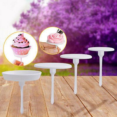 4xCake Cupcake Stand Glassa Cream Flower Nails Set Strumento decorazione Sugar