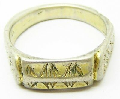 Nice 16th century Tudor Silver Gilt Iconographic Ring Reformation Type Size 9