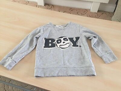 Boys New Knitted Cardigan Zipped Jumper Knit 2-4yrs Sweater Top Black Grey #110