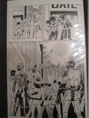 Avengers Original Comic art page by pat Olliffe