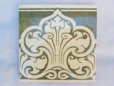 Charming Pilkington Unusual Art Nouveau Period Tile