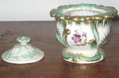 Porcelain Inkwell Encrier Painted Gilded Decoration Early Mid 19Th Century