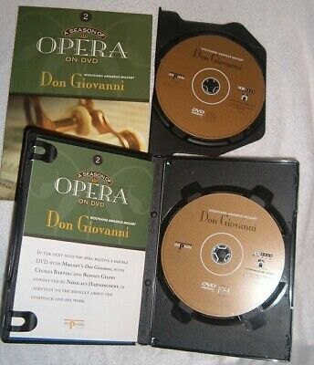 Del Prado dvd MOZART DON GIOVANNI  2 disc set with green book  and booklet