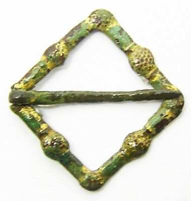 13th - 14th century A.D. Excavated Medieval Gilt Lozenge Shaped Annular Brooch