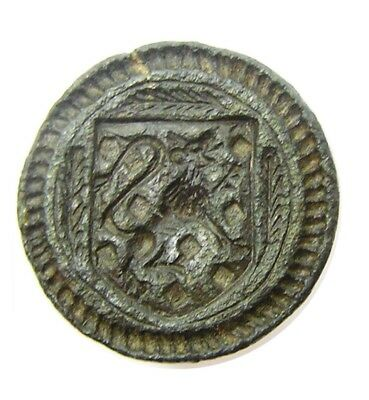 Good 14th century Medieval Knights Armorial Bronze Seal Excavated Condition