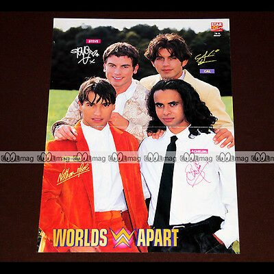 WORDLS APART / Nathan, Schelim, Cal & Steve (Boys Band) 90's - Poster #PM974