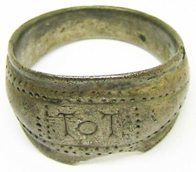 3rd century A.D. Roman Silver Finger Ring Sacred to TOT god Totatis Size 9 1/4
