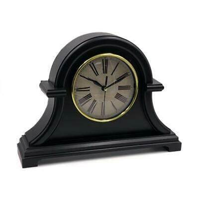 Traditional Vintage Black Retro Mantel Clock New Boxed CL2086