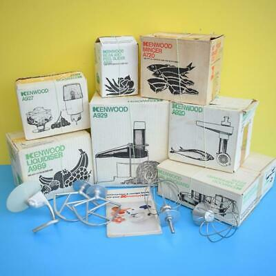 Vintage 1970s Kenwood Chef Food Mixer Boxed Accessories - Various