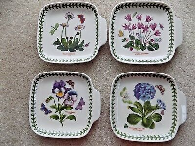 Portmeirion Botanic Garden set of  4 canape dishes new in box assorted designs