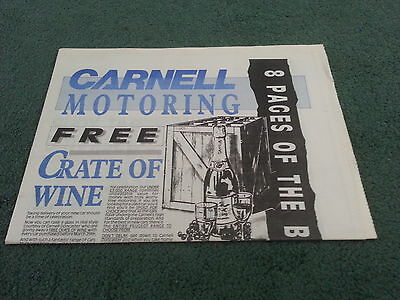 1989 CARNELL Doncaster PEUGEOT NEWSPAPER 205 309 405 Mi16 USED CARS LCV BROCHURE