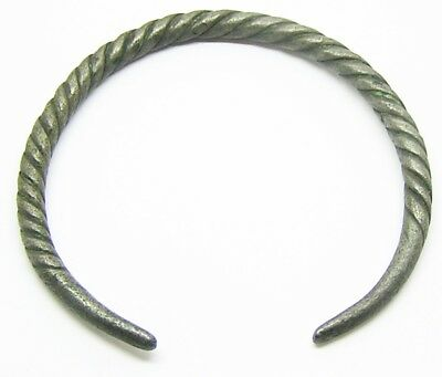 9th - 11th century A.D. Nice Scandinavian Iron Age Silver Bracelet / Oath Ring