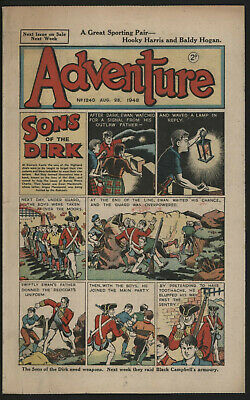 Adventure 1240. Classic Boys' Paper Issue From Significant Collecton