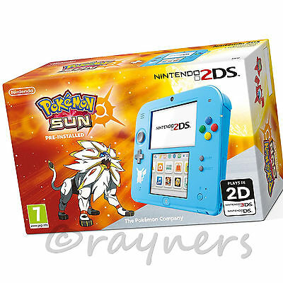 New Special Edition Nintendo 2DS Console + Pokemon Sun Game (Pre-Installed)