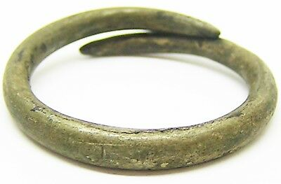 500 B.C. - 500 A.D. Simple Iron Age Celtic to Pictish Base Silver Finger Ring