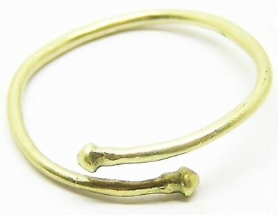 7th - 1st century B.C. Rare Iron Age Celtic Gold Electrum Torque Finger Ring
