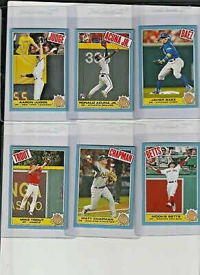 2018 Topps Thursday 6 Card 85' Rocky Set  Limited  Trout Acuna Jr  Judge  Loaded