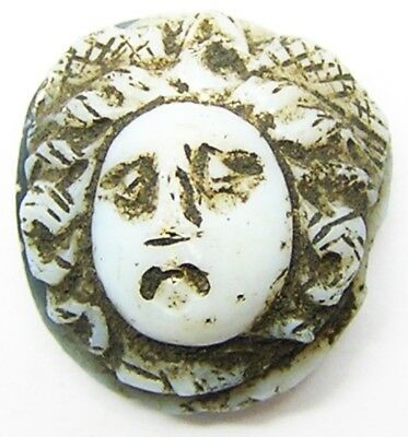 2nd - 3rd century A.D. Ancient Roman Gorgoneion Hardstone Cameo of Medusa Nicolo