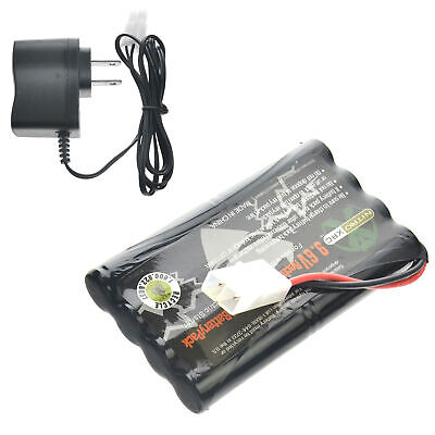 9.6V 1000mAh Ni-MH Rechargeable Battery Pack Tamiya Connector + Charger US Ship