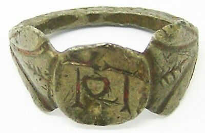 2nd - 3rd century A.D. Roman Silver Finger Ring Sacred to TOT god Totatis