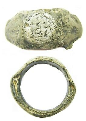 2nd - 3rd century A.D Roman Silver Finger Ring Sacred to TOT god Totatis Size 9