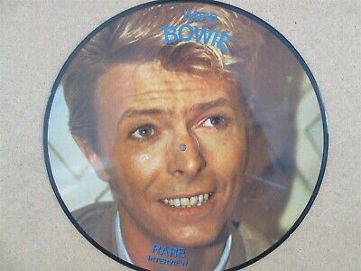 "DAVID BOWIE- Lets Talk - RARE INTERVIEW PICTURE 12"" LP Pic Disc 1983 Radio Live"