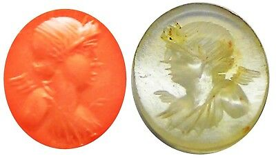 2nd century A.D. Ancient Roman Chalcedony Intaglio of Eros / Cupid god of Love
