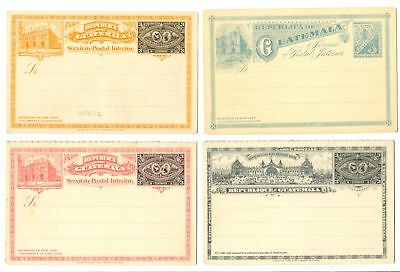 Guatemala 12 Dif Old Ps Cards / Wrapper F/Vf