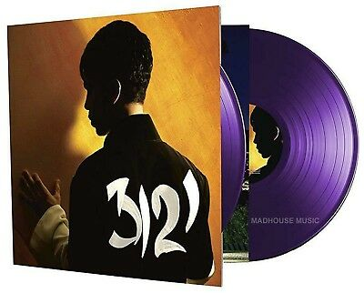 PRINCE LP x 2 3121 PURPLE Vinyl Limited Edn 1st time on Vinyl ! CORRECT STICKER
