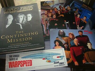 LOT Star TREK Next Generation Continuing Mission book poster 93 bumper sticker