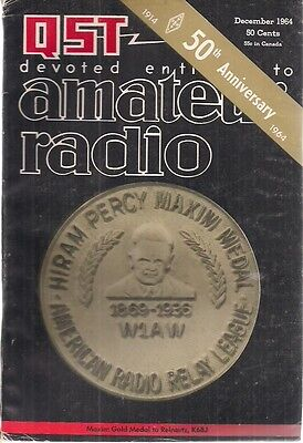 QST Magazine December 1964 devoted entirely to amateur radio