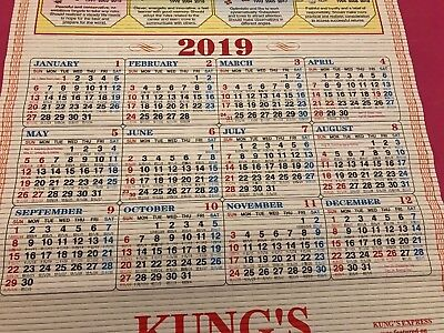 Chinese Wall scroll Calendar 2019 From Restaurant new