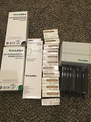 Welch Allyn Braun ThermoScan  PC 200  Probe Covers & Dispenser Lot 05031