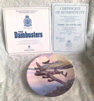 Dambusters Royal Worcester Limited Edition Plate 'Prelude: Low Over The Lake'