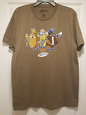 New Hostess Twinkie Ding Dong Captain Cupcake Adult Medium Snack Tee Shirt
