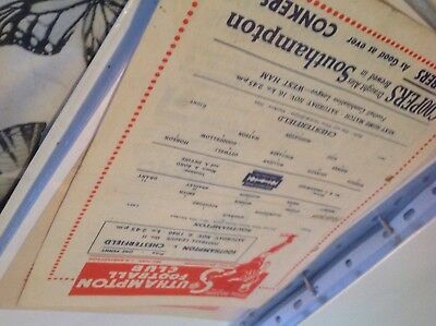 Football Programme Southampton v chesterfield 1946/47